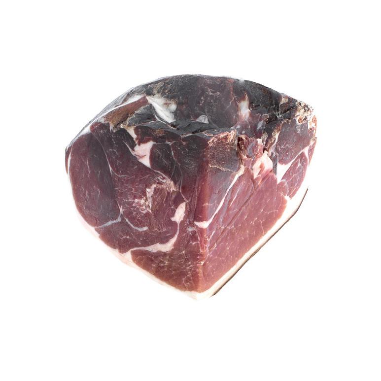 Quart de jambon sec nature. Poitrine roulée cuite à l'ail et au poivre. Maison Alpin. Vente en direct de la salaison familiale. Charcuterie artisanale, saucisson, saucisse, diot, jambon, de Haute-Savoie & viande de qualité supérieure en ligne.