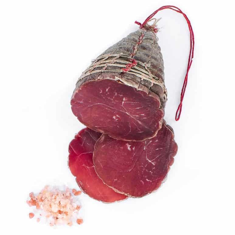 Demi noix de jambon nature. Maison Alpin. Vente en direct de la salaison familiale. Charcuterie artisanale, saucisson, saucisse, diot, jambon, de Haute-Savoie & viande de qualité supérieure en ligne.