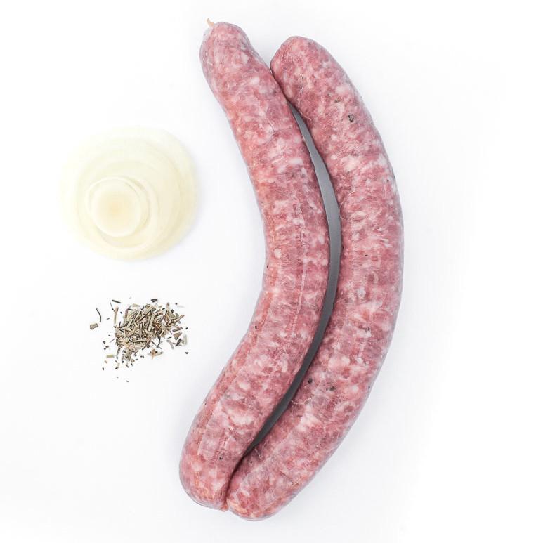 L'incontournable, chipolata. Maison Alpin. Vente en direct de la salaison familiale. Charcuterie artisanale, saucisson, saucisse, diot, jambon, de Haute-Savoie & viande de qualité supérieure en ligne.