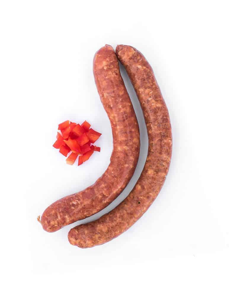 Saucisse la Mexicaine. Maison Alpin. Vente en direct de la salaison familiale. Charcuterie artisanale, saucisson, saucisse, diot, jambon, de Haute-Savoie & viande de qualité supérieure en ligne.