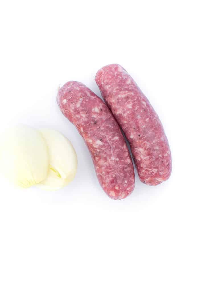 La toulousaine, saucisse de Toulouse. Maison Alpin. Vente en direct de la salaison familiale. Charcuterie artisanale, saucisson, saucisse, diot, jambon, de Haute-Savoie & viande de qualité supérieure en ligne.