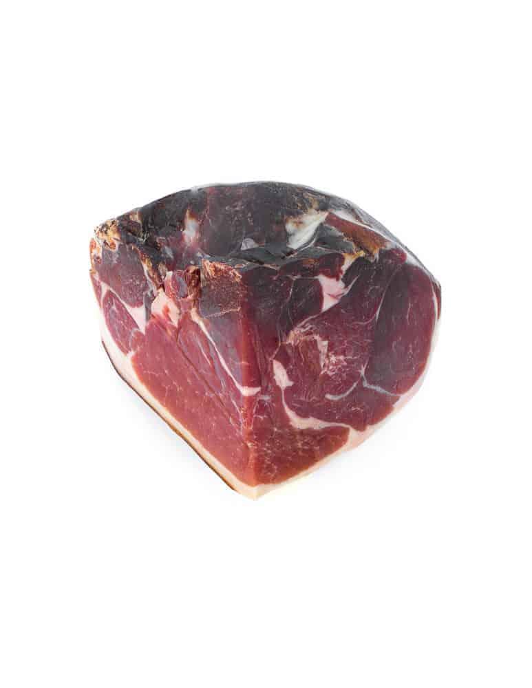 Quart de jambon sec fumé. Maison Alpin. Vente en direct de la salaison familiale. Charcuterie artisanale, saucisson, saucisse, diot, jambon, de Haute-Savoie & viande de qualité supérieure en ligne.