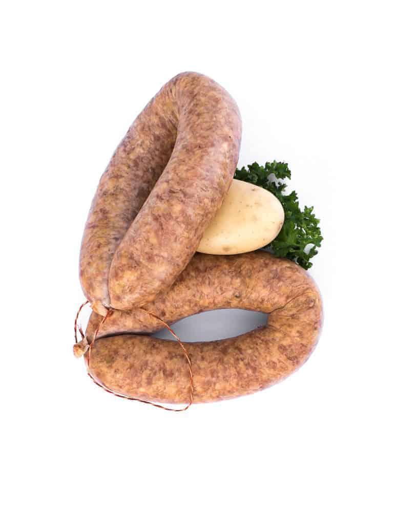 Saucisse aux choux fumées. Maison Alpin. Vente en direct de la salaison familiale. Charcuterie artisanale, saucisson, saucisse, diot, jambon, de Haute-Savoie & viande de qualité supérieure en ligne.