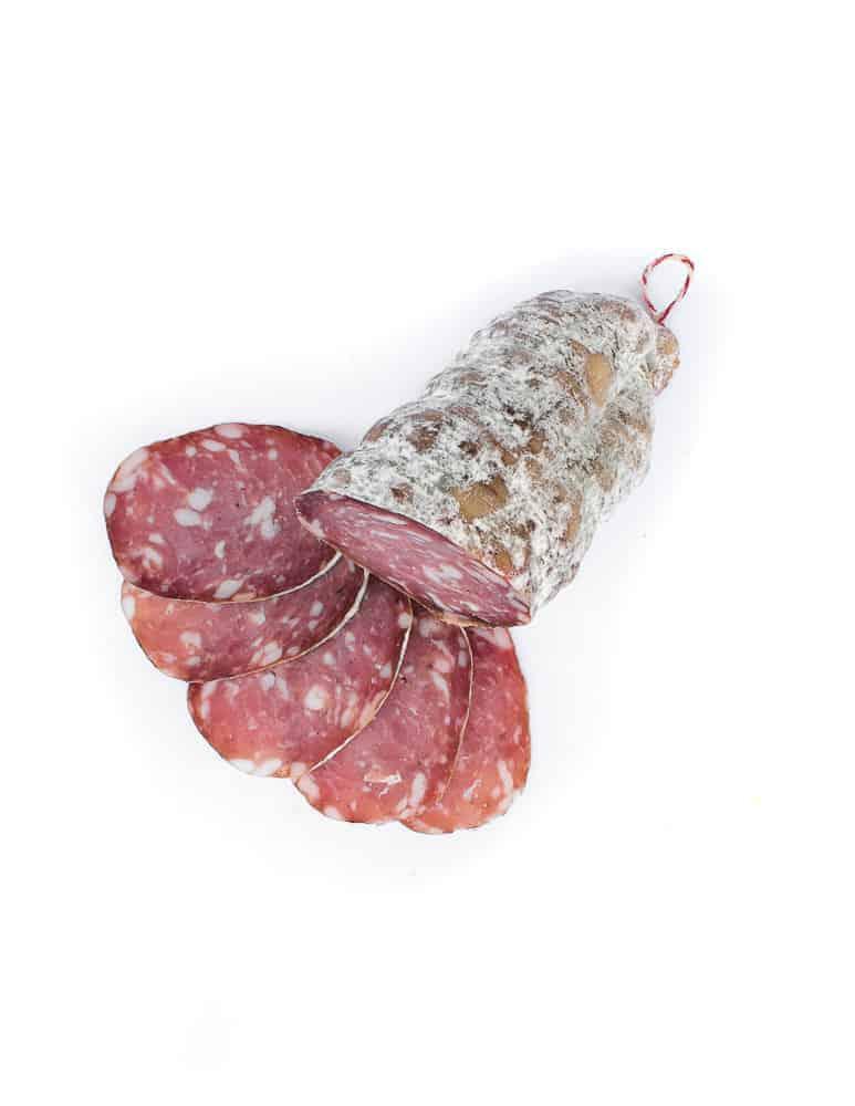 Saucisson sec nature. Vente en direct de la salaison familiale. Charcuterie artisanale, saucisson, saucisse, diot, jambon, de Haute-Savoie & viande de qualité supérieure en ligne.